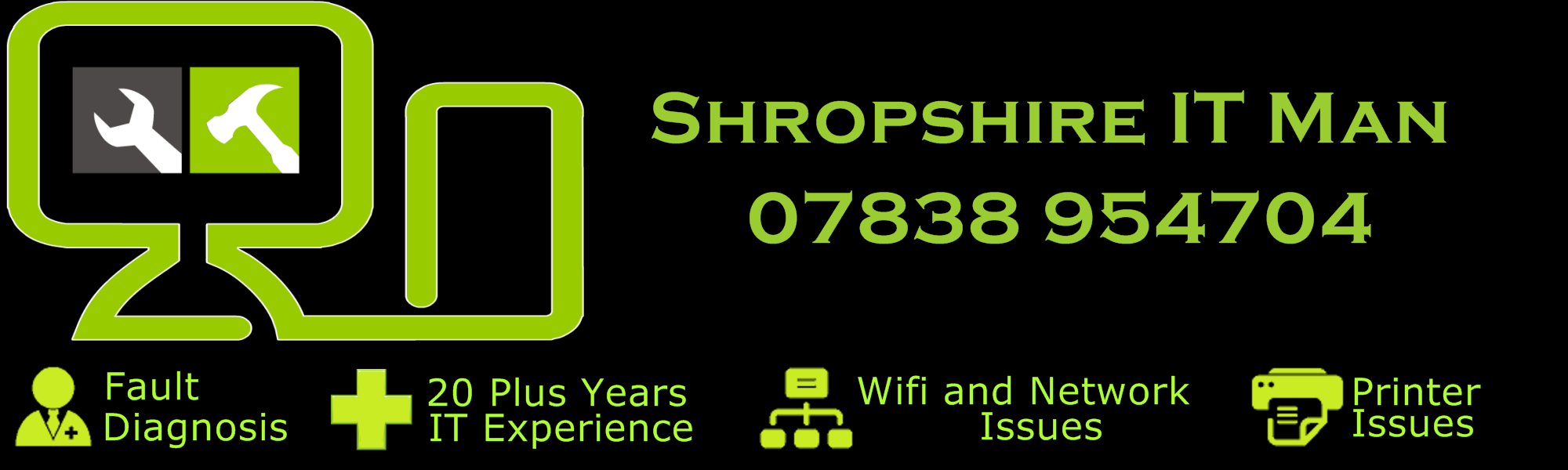 Shropshire IT Man Computer repairs in Shrewsbury and the surrounding areas